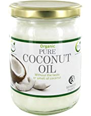 TIVI Organic Refined & Odourless Coconut Oil Glass Jar of 500 ml for Hair/Skin/Body/Cooking/Baking and Gluten Free, Vegetarian, Vegan