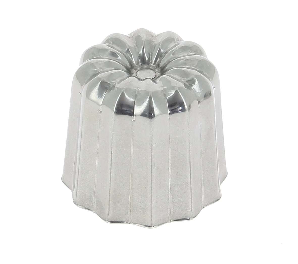 STAINLESS STEEL''CANELES'' FLUTED MOLD, O 1.75-Inch