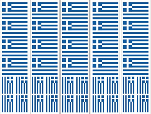 (40 Removable Stickers: Greek Flag, Greece Party Favors,)