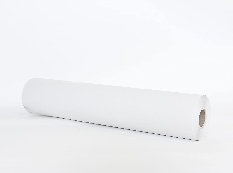 Rollo de papel camilla, sabana desechable en rollo para camillas, ancho 60 cm x 70 mts, color BLANCO