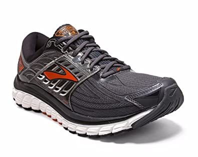 092ca30b368 Brooks Glycerin 14 Anthracite Black Red Orange Men s Running Shoes ...
