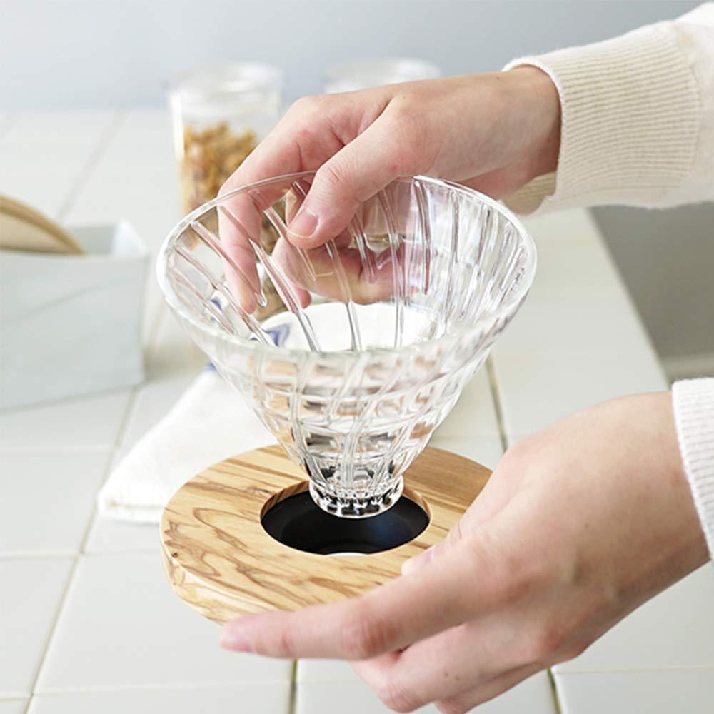Hario 4977642724549 Vd 14 Cup Olivenholz V60 Tropfer Plus Paper Filter Vcf 02 100mk Messlffel Glas Transparent 11 X 98 107 Cm Kche Haushalt