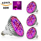 LVJING LED Grow Light Bulb, Indoor Plant Grow Lamp, Full Spectrum with UV IR for Hydroponic Greenhouse Veg Flower Bloom 80W Equivalent E27 Base – 4 Pack Review