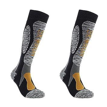 IPOTCH 2 x Calcetines de Esquí Calcetines Transpirable para Running Paddle Ciclismo Esquí Calcetines Deportes Hombre Mujer Opcionales - Amarillo para ...
