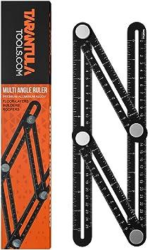 Multi angle measuring ruler,universal multi-angle measuring ruler 12 side hole positioning aluminum alloy multi angle measuring ruler template tool multi-angle measuring ruler with drilling locator