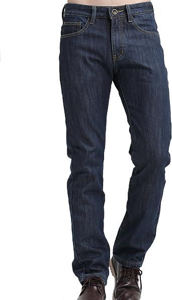 Sslr Pantalones Vaqueros Con Forrado Polar Termico De Invierno Corte Recto Para Hombre Amazon Es Ropa Y Accesorios