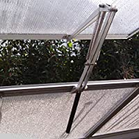 Jeffergarden Roof Vent Opener Bar Manual Aluminum Greenhouse Window Stay Sturdy Kit Set