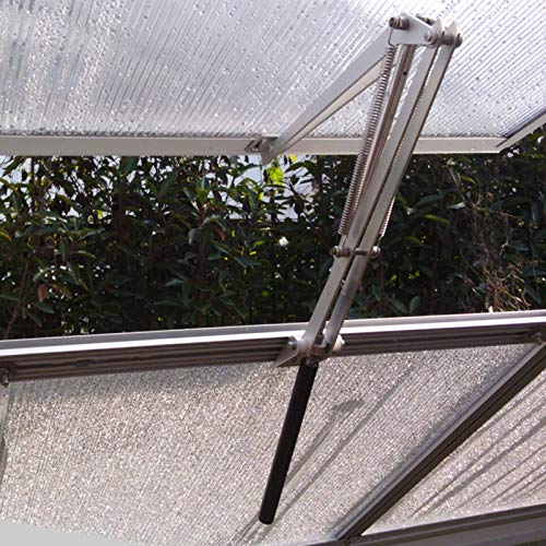 - BIBISTORE Solar Heat Sensitive Automatic Greenhouse Window Opener Hothouse Vent Openers Auto Vent Kit Garden Tools- (Two Springs,Lifts 15 Lbs,No Power Needed)