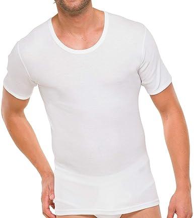 Algodón Acanalado Acanalado Doble,S-3XL Schiesser Hombre Media Manga Camiseta