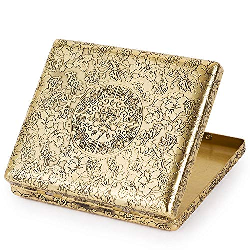 - Cigarette Case Pure Copper Embossed Arabesque Tobacco Storage Case Holder for 20 King Size Cigarettes (Cigarette Case Pattern Large)