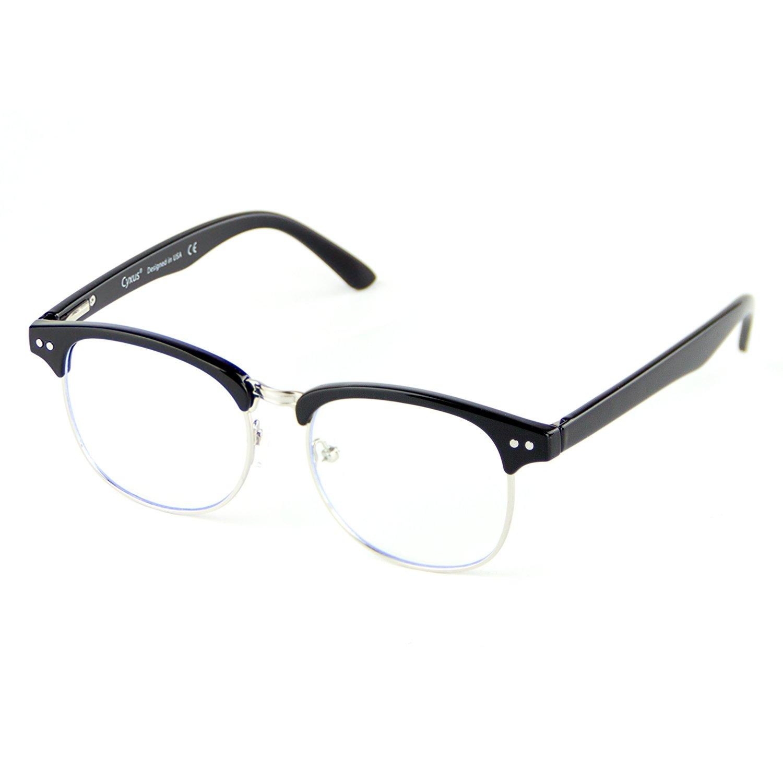 461562c612f Amazon.com  Cyxus Blue Light Filter Computer Glasses (Transparent Lens)