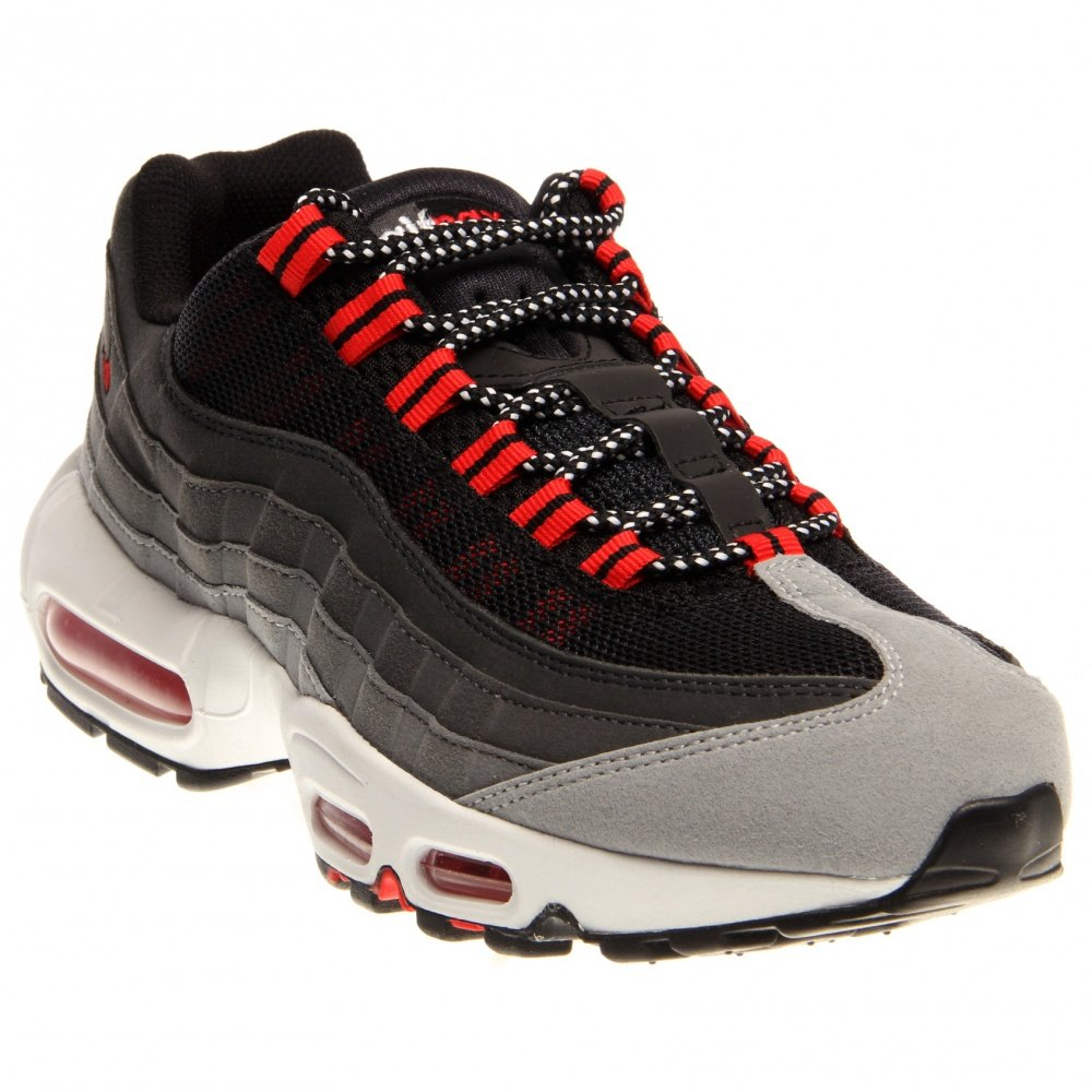 Nike Air Max 95 Wolf Grey Chilling Red Cool Grey 609048 066 Mens Running Shoes 609048 066