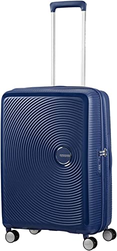 AMERICAN TOURISTER Soundbox – Spinner 55 20 Expandable Suitcase, 55 cm, 35.5 liters, Blue Midnight Navy