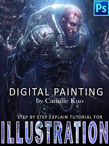 Digital Painting by Camille Kuo: step by step explain tutorial for illustration