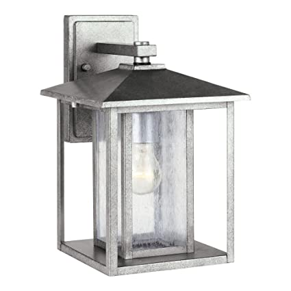 Sea gull lighting 88027 57 hunnington one light outdoor wall lantern with clear seeded