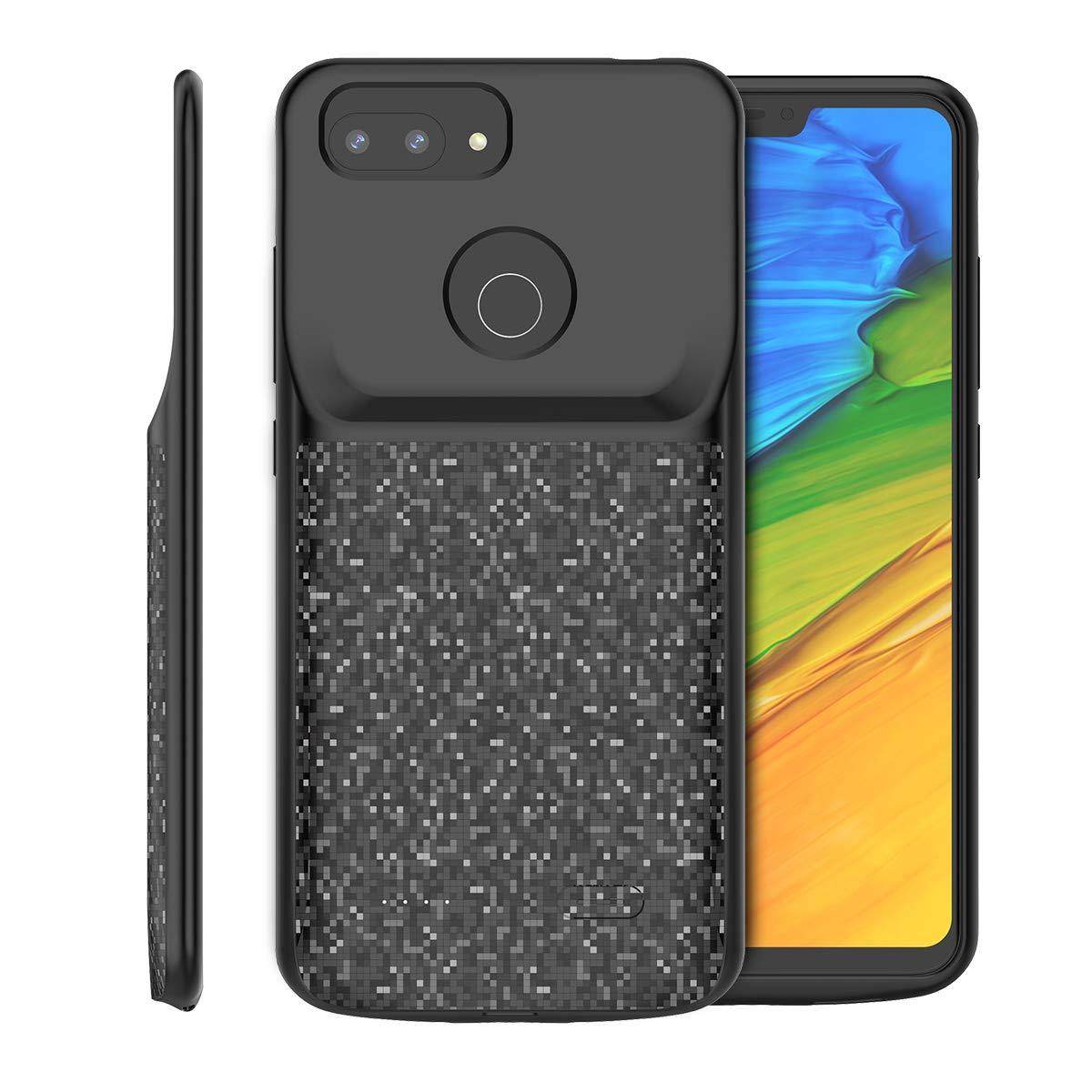 4700mAh Rechargeable Externe Chargeur Portable Power Bank Battery Case Juice Pack Antichoc Housse pour Xiaomi Mi 8 Lite FugouSell Coque Batterie Xiaomi Mi 8 Lite Noir