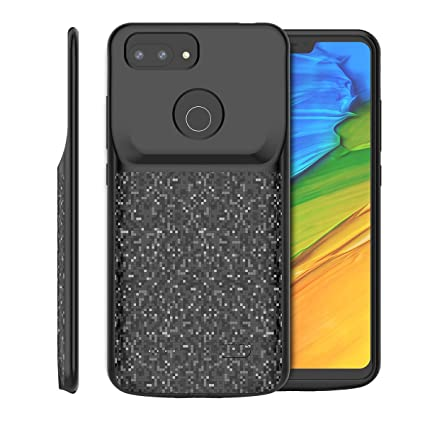 fd5b33c1f78 Amazon.com  zukabmwus Xiaomi Mi 8 Lite 4700mAh Battery Case Portable  Extended Xiaomi Mi 8 Lite 4700mAh Charging Case Shell Battery Juice  (Black)  Cell ...