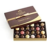 Godiva Chocolatier Signature Chocolate Truffles Gift Box, Classic, 24 Piece, Great for Father's Day Gift