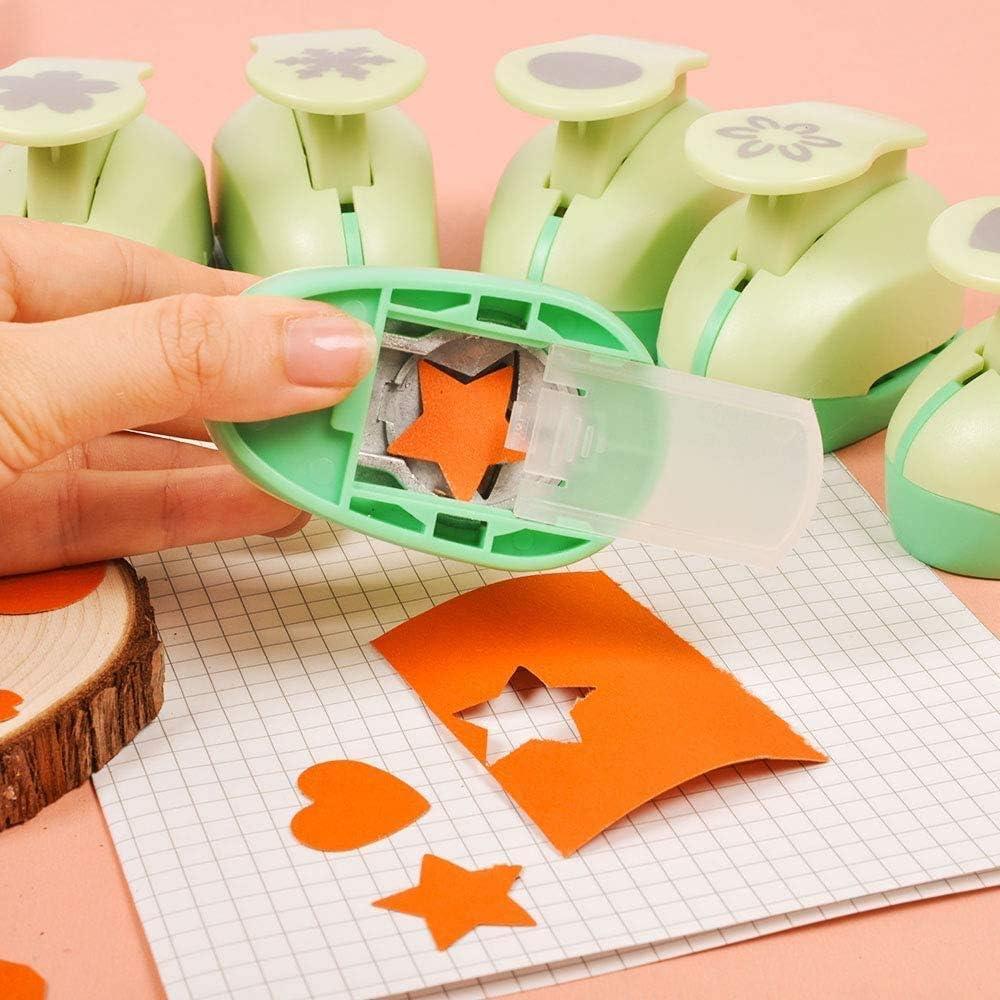 10 St/ück Papierstanzer Handgemachte Lochstanzer Papier Handwerk Karten Scrapbooking Viele Formen Tolles Geschenk f/ür Kinder