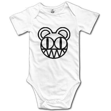 3118d14fa Amazon.com: Rock Band Radiohead Logo Baby Onesie Outfits: Clothing
