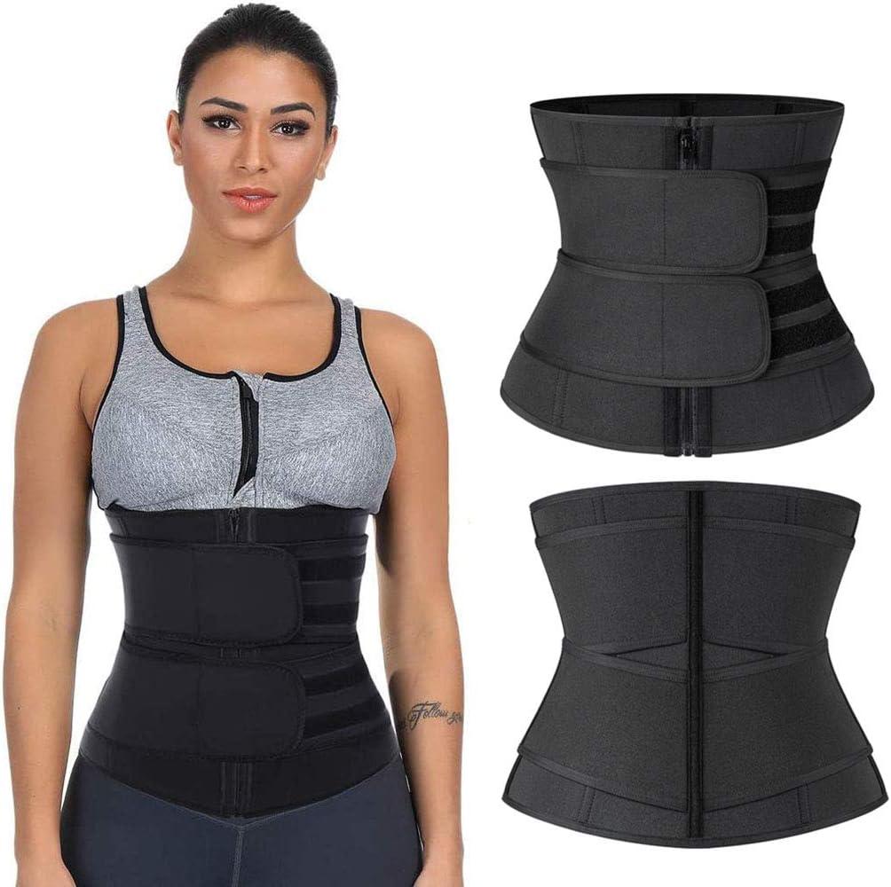 Women Waist Trainer Body Shaper Slimmer Tummy Control Sauna Sweat Neoprene Belt