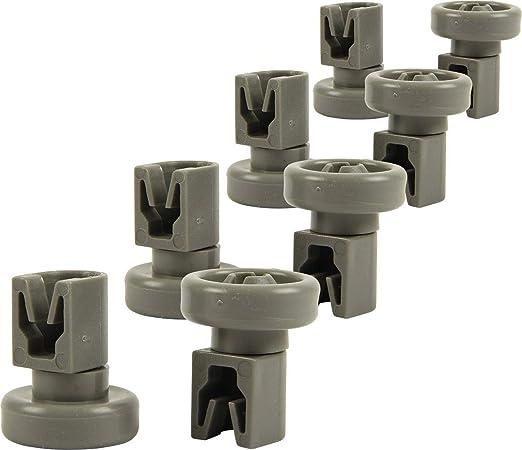 8 x rodillos de rueda superior para lavavajillas y eje de ...