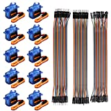#3: 10Pcs SG90 Micro Servo Motor 9G Servo with 120pcs Multicolored Dupont Wire 40pin Male to Female, 40pin Male to Male, 40pin Female to Female Breadboard Jumper Wires for Arduino RC Robot Smart Car