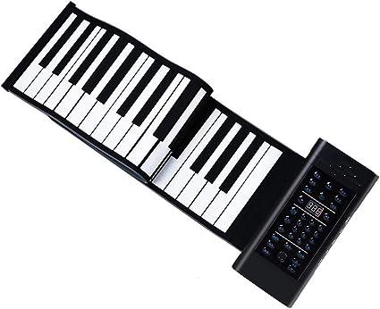 Pianos Teclados Silicona Enrollado a Mano para Practicar el ...