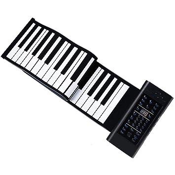 Pianos Teclados Silicona Enrollado a Mano para Practicar el Teclado ...