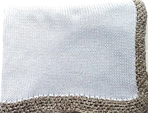 knitted-crochet-finished-light-blue-cotton-baby-blanket-trimmed-grey-chenille