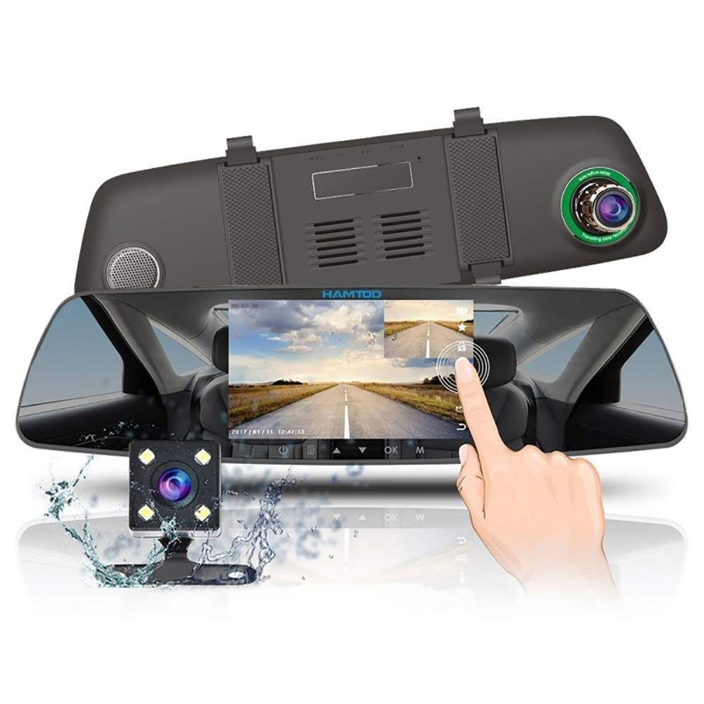 CHEZAI Mirror Dash Cam 5 Inches 1080P HD Dual Lens Touch Screen Dash Cam 170 Degrees Wide Angle with G-Sensor Motion Detection Parking Monitor by SPRIS