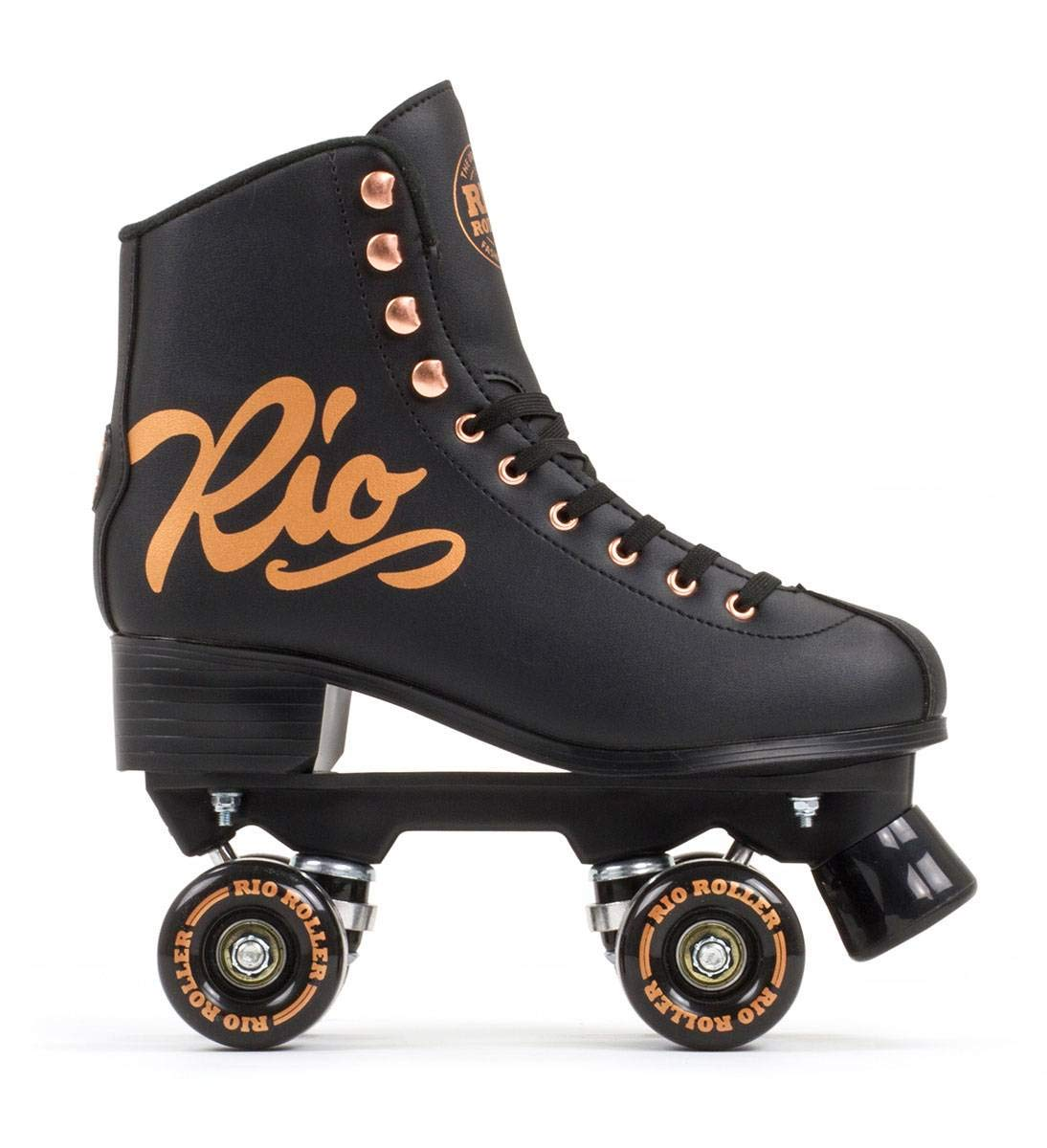 Rio Roller Rosa Rollschuhe schwarz-Goldfarben Damen Damen Damen B07NQLNRPZ Rollschuhe Feinbearbeitung 5f13b3