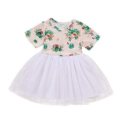 Manadlian Bébé Robes Enfant Ete 2019 Mode Robe de Princesse Imprimé Fleur  Tutu Robes Mousseline Jupe Ensemble Bébé Baptême Amazon.fr Vêtements et