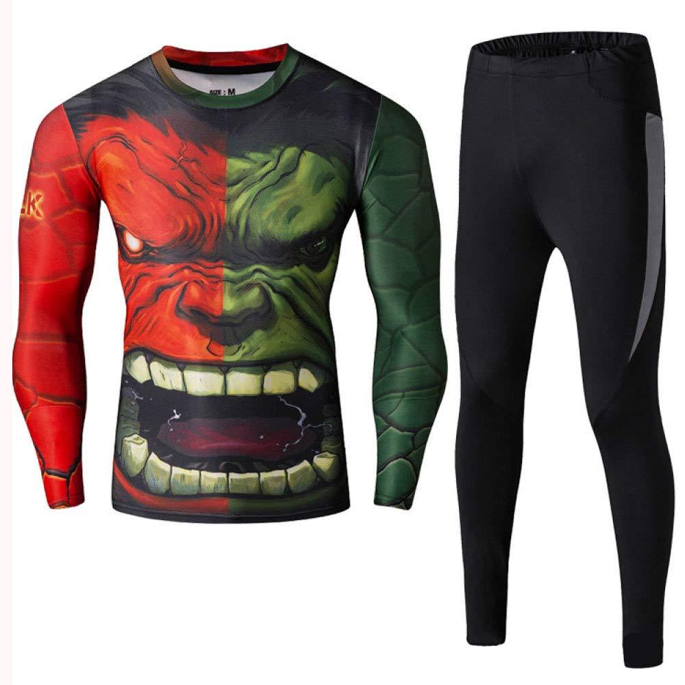 JUFENG Spiderman Running Sets Superhéroe Pantalones Ajustados De ...