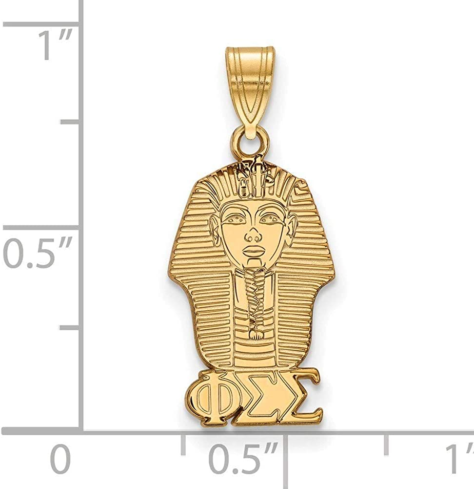 Lex /& Lu LogoArt Gold Plated Sterling Silver Phi Sigma Sigma Small Pendant LAL158678