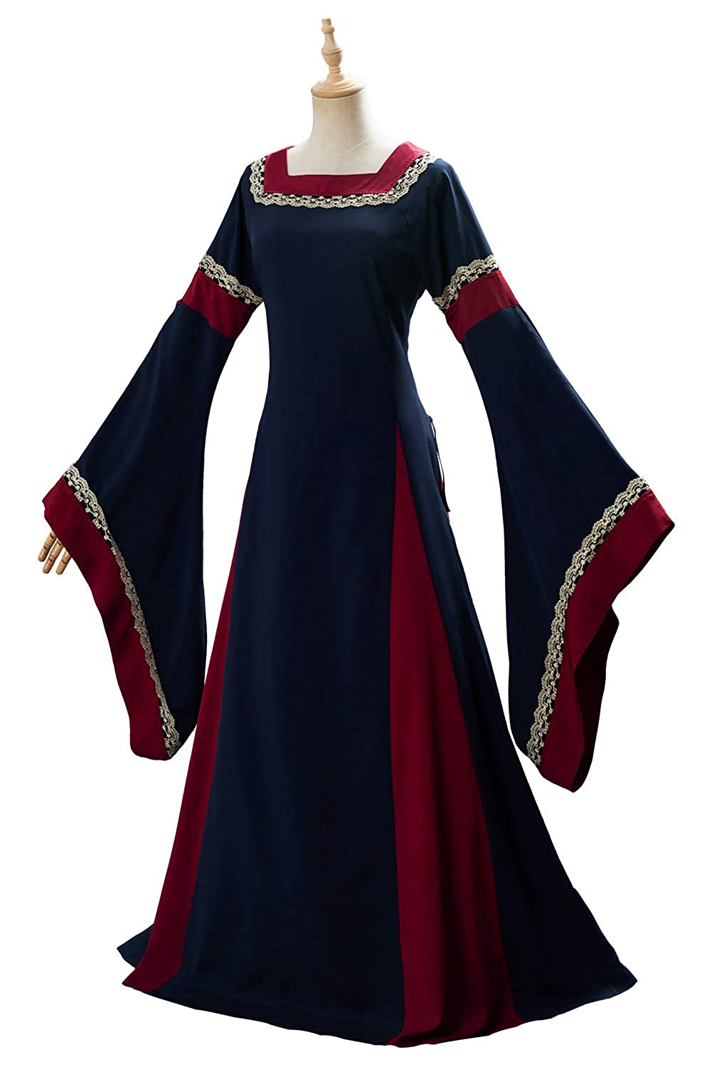 Vestido de Traje Medieval Vestido renacentista para Mujer Vestido ...