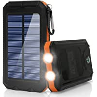 Ayyie 10000mAh Solar Portable Power Bank with Dual USB Charging Ports