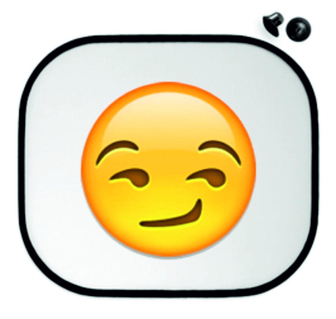 Sun Protection 45x39 Suffisant/Mocking Smiling face Car Sun Visors - Side Shields Anti-Sunscreen - Smiley- Emoji