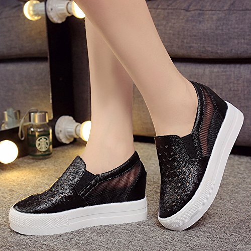 Women Thirty Pedal Bottom Shoes Leisure Crocs KHSKX With Lazy five Cut Muffin Thick Slope RIE5wwxcq7