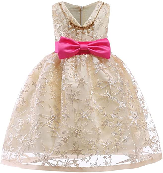 46030422fc03a Amazon.com: Molyveva Flower Girl Dress Formal Holiday Princess Wedding  Bridesmaid Dress: Clothing