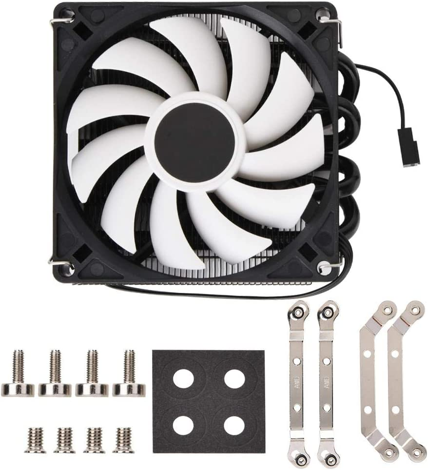 Tosuny CPU Radiator Fan,Case Fan Silent Ultrathin ID-Cooling IS40x AM4 Heat Pipe ITX Down Pressure CPU Cooling Radiator Fan Long Life Sleeve Bearing Computer Case Fan