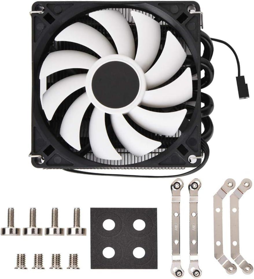 Tosuny CPU Radiator Fan,Case Fan Silent Ultrathin ID-Cooling IS40x AM4 Heat Pipe ITX Down Pressure CPU Cooling Radiator Fan Long Life Sleeve Bearing Computer Case Fan