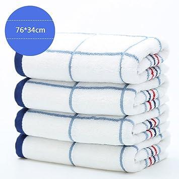 Toallas CHENGYI cómoda de Lujo Pura de algodón para Hombres y Mujeres Adultos Absorbente Suave de 76 * 34 cm (4 Piezas/Sets) (Color : Azul): Amazon.es: ...