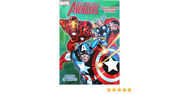 Amazon Marvel The Mighty Avengers Coloring Book With Captain America Hulk And Thor Brave In Battle Toys Games