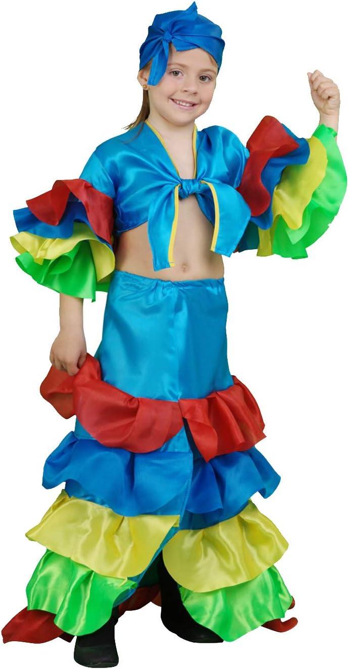 Boys Toys Disfraz Rumbera Azul 5-6 años: Amazon.es: Juguetes y juegos