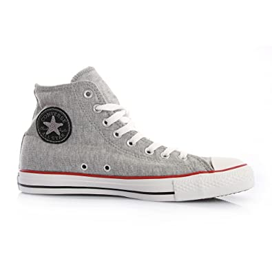online retailer 36a94 23b4f Converse Chuck Taylor All Star Hi - 1U452 Sweatshirt Grey Black   Amazon.co.uk  Shoes   Bags
