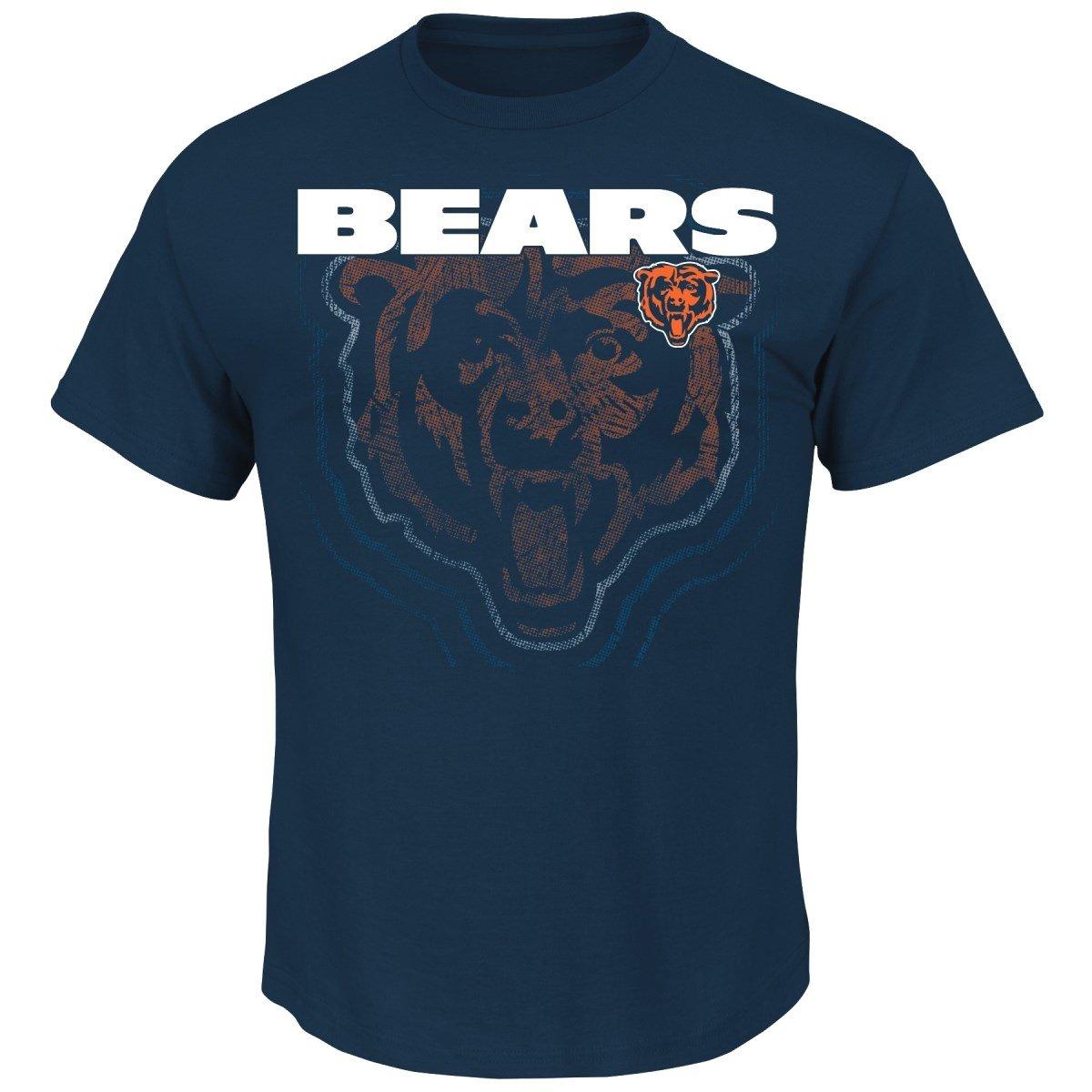 Chicago Bears Majestic NFL Empty Backfield Men's Short Sleeve T-Shirt