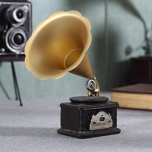 FCXBQ Tocadiscos Retro Europeo Adornos Vintage Fonógrafo Americano ...