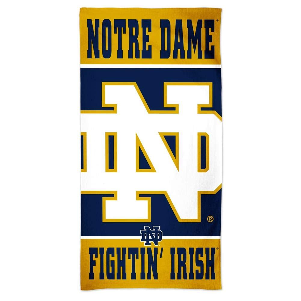 WinCraft Notre Dame Fighting Irish Beach Towel 30 x 60 Spectra Beach Towel
