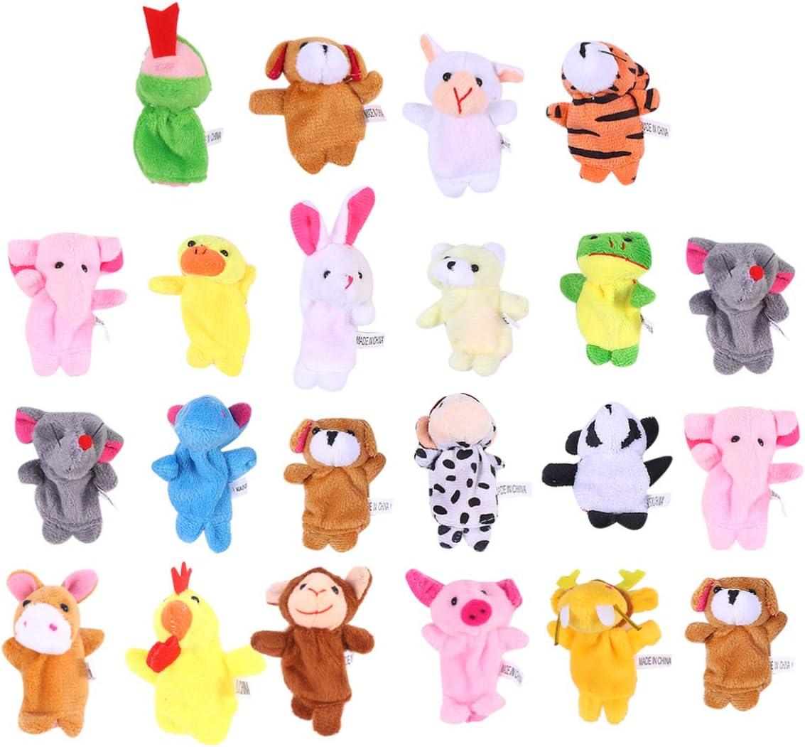 TOYANDONA 22Pcs Animales de Peluche Juguetes de Marionetas de Dedo Marionetas de Dedo de Animales Juguete Educativo para Niños Manos Suaves Marionetas de Dedo Juego para Bebés Niños Navidad